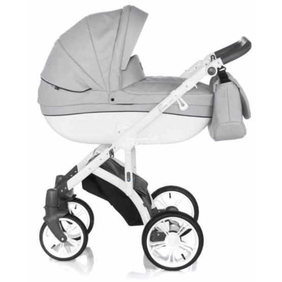 Cărucior pentru copii 2 în 1 ROAN BASS SOFT - Dove-white