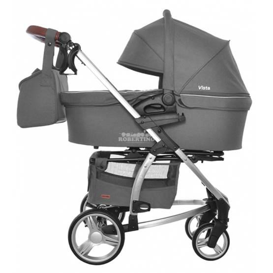 Cărucior 2 în 1 pentru copilași Carrello Vista – Steel Grey