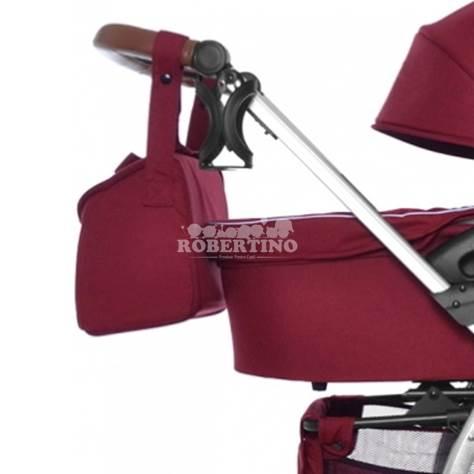 Cărucior 2 în 1 pentru copilași Carrello Vista - Ruby Red