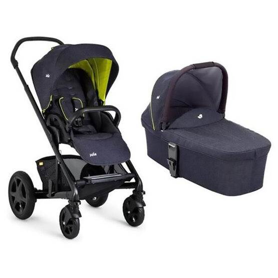 Cărucior multifuncțional 2 in 1 Joie Chrome Deluxe Denim Zest