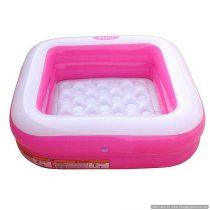 Bazin gonflabil pentru copii 86 x 86  cm, H — 25 cm, Volum 57 L (culoare roz)