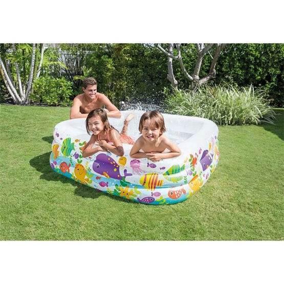 Bazin gonflabil pentru copii 159 x 159 cm, H - 50 cm, Volum 420 L