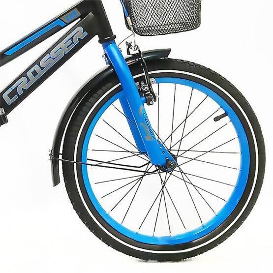 """Bicicletă pentru copii C13 Black&Blue Crosser, Diametrul roților 20"""""""