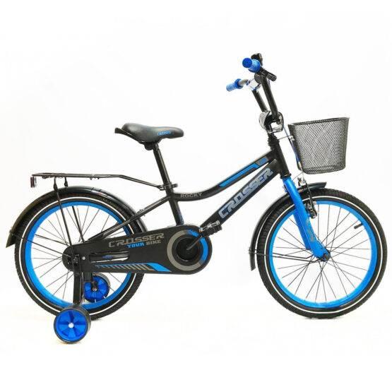Bicicletă pentru copii C13 Black&Blue Crosser, Diametrul roților 20″