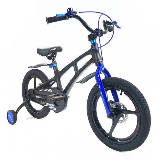 """Bicicletă Magnesium Black & Blue Crosser, Diametrul roților 16"""""""