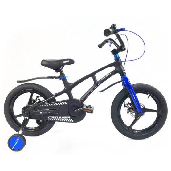 Bicicletă pentru copii Magnesium Black&Blue Crosser