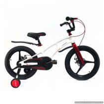 Bicicletă Magnesium White&Red Crosser, Diametrul roților 18″