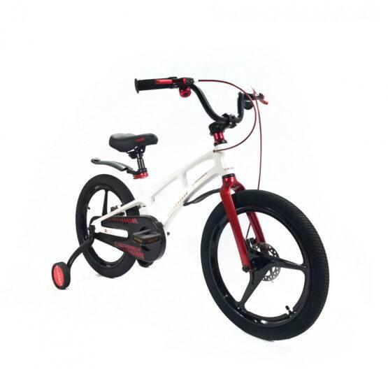 """Bicicletă Magnesium White & Red Crosser, Diametrul roților 18"""""""