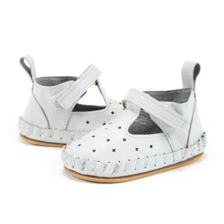 "Mocasini pentru copii Light Moonie's ""LaMillou"" First Step – Moon Gray"