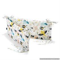 """Garnitură bumper pentru pătuc 60×120 """"LaMillou"""" Cute Birds Vivid"""