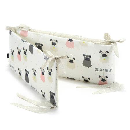 """Garnitură bumper pentru pătuc 60×120 """"LaMillou"""" Doggy Unicorn"""