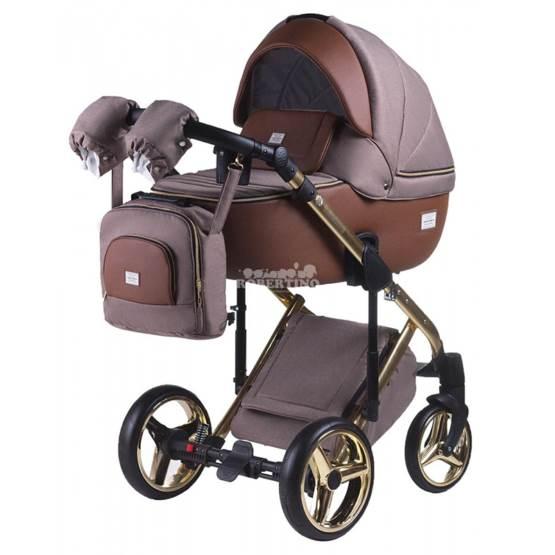 Cărucior 2 în 1 pentru nou născuți Adamex Luciano GOLD - Y-801/A