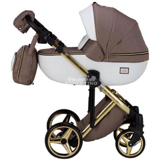 Cărucior 2 în 1 pentru nou născuți Adamex Luciano GOLD – Y-801
