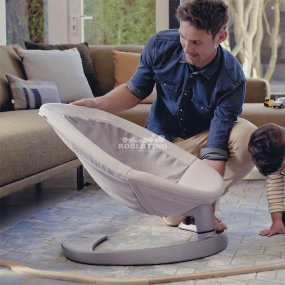 Șezlong pentru bebeluși Nuna Leaf Curv Grow Blush