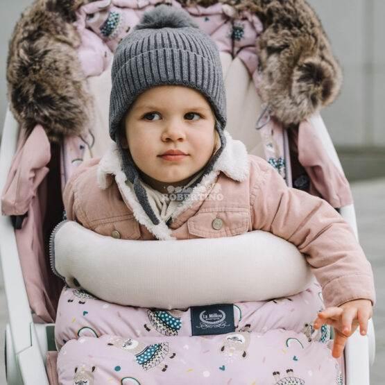 Husă de iarnă pentru cărucior LaMillou Lady Peony - Powder Pink