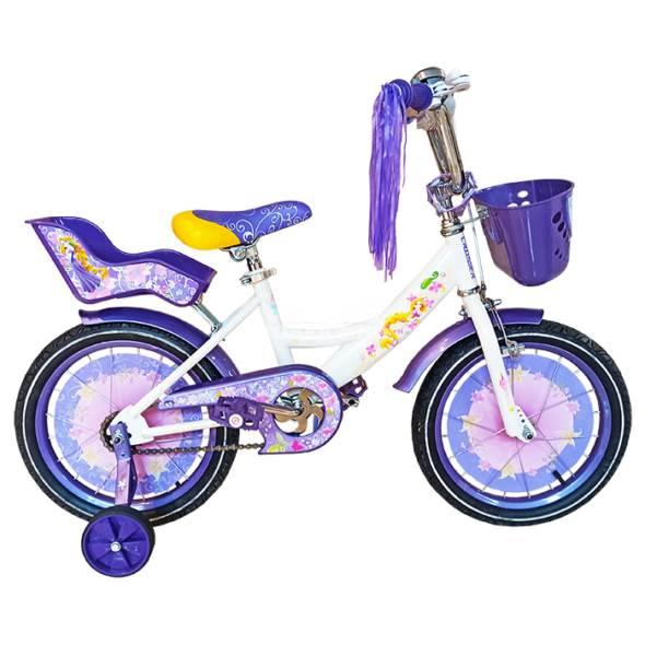 Bicicletă pentru fetițe GIRLS White&Viloet