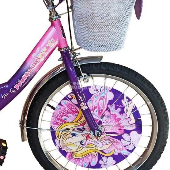 """Bicicletă pentru fetițe Princess Pretty Girl Violet, Diametrul roților 20"""""""