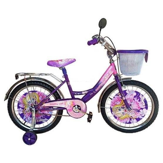 Bicicletă pentru fetițe Princess Pretty Girl Violet