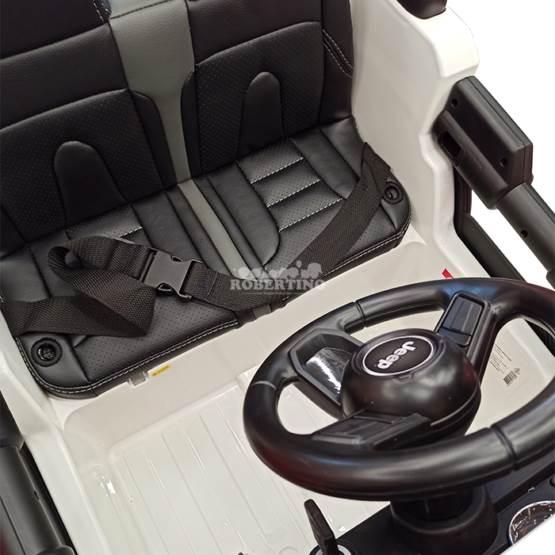 Mașină electrică cu acumulator și telecomandă Jeep Wrangler Rubicon White