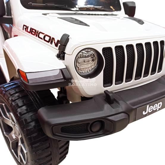 Mașină cu acumulator și telecomandă Jeep Wrangler Rubicon White