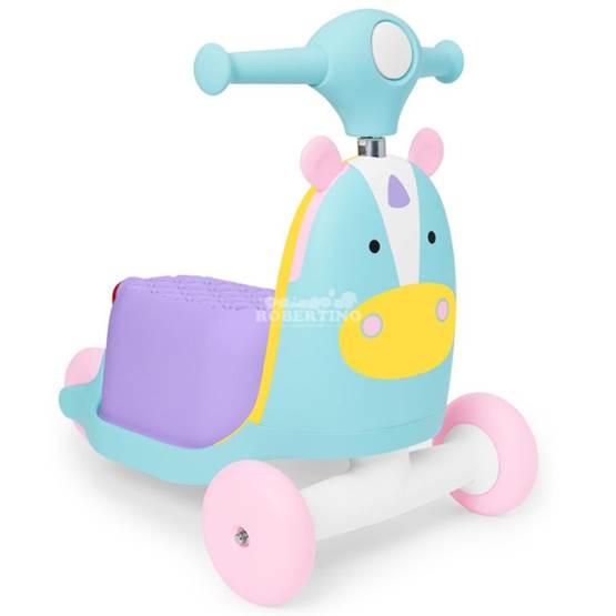 Scooter pentru copii 3 în 1 SKIP HOP Ride on Toy – Unicorn