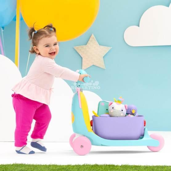 Scooter pentru copii 3 în 1 SKIP HOP Ride on Toy - Unicorn