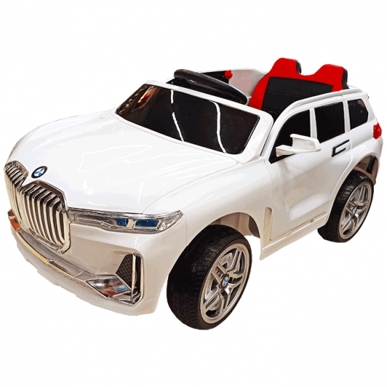 Automobil electric cu acumulator și telecomandă BMW LX YT-3588 Alb