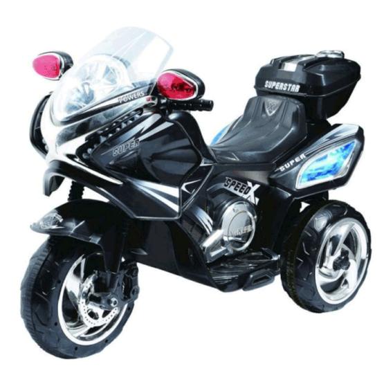 Motocicletă electrică 6V cu acumulator MB358D – Negru