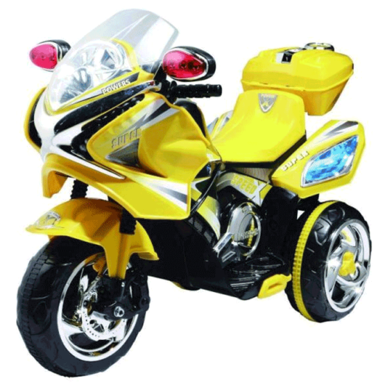 Motocicletă electrică 6V cu acumulator MB358D – Galben
