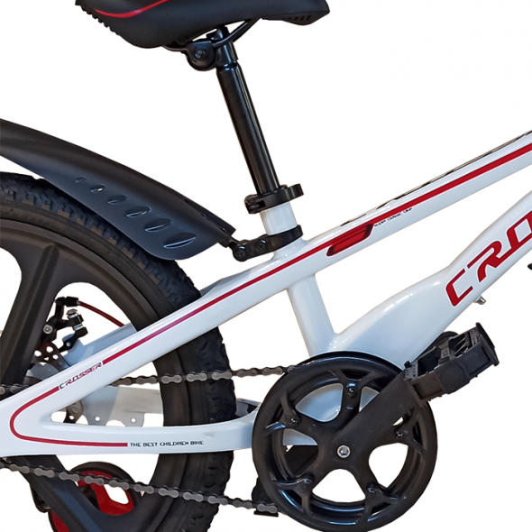Bicicletă pentru copii Magnesium Premium White Crosser