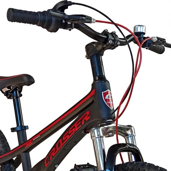 Bicicletă cu 6 viteze Magnesium Sport Black Crosser
