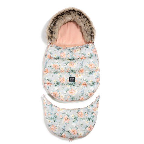 Husă pentru cărucior de iarnă – Combo – La Millou – Blooming Boutique & Powder Pink