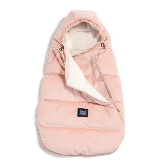 Husă pentru cărucior de iarnă – Baby – Velvet Collection – LaMillou – Powder Pink