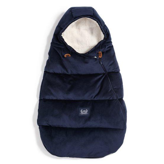 Husă pentru cărucior de iarnă – Baby – Velvet Collection – LaMillou – Royal Navy