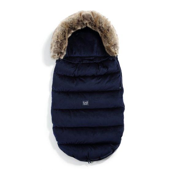 Husă pentru cărucior de iarnă – Uni – Velvet Collection – Royal Navy – La Millou