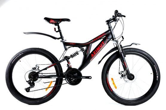Bicicleta Azimut Blackmount de 24 inch GD-SKD Black/Red