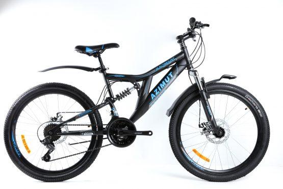Bicicleta Azimut Blackmount de 26 inch Black/Blue
