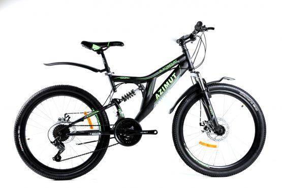 Bicicleta Azimut Blackmount de 24 inch GD-SKD Black/Green